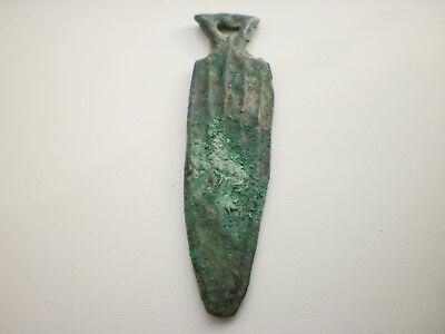 Ancient Rare Bronze Pendant Amulet DAGGER Koban Culture Late Bronze Age