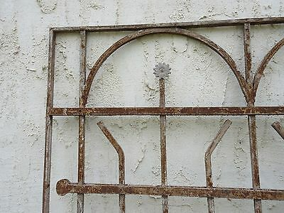 Antique Victorian Iron Gate Window Garden Fence Architectural Salvage Door #65 4