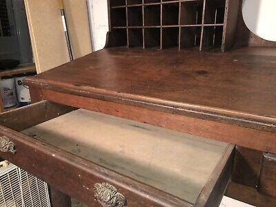 Antique Mail Sorter Post Office Desk 6