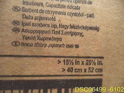 100 / carton: 3M MPD1520DD Sorbent Pads, High-Capacity 37 1/2 Gallon Capacity