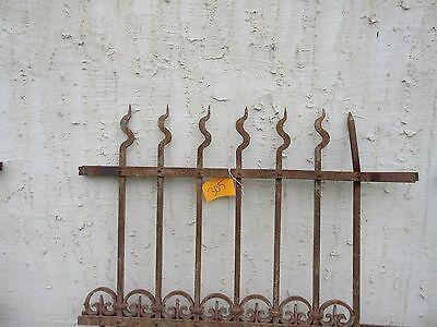 Antique Victorian Iron Gate Window Garden Fence Architectural Salvage Door #305 2