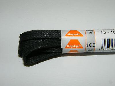 Ringelspitz Schnürsenkel 75cm schwarz flach schmal Senkel Schuhbänder