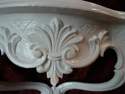 Wall Console/Spiegelkonsolen/Wall Shelf Baroque Antique White B: 45cm cp68 4