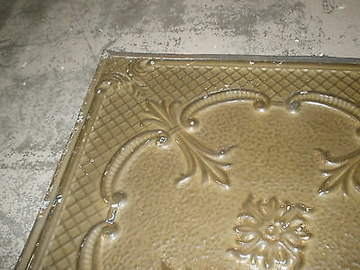 Antique Ceiling Tin-Tile-Vintage-Primitive-Late 1800's-2x2 ft-Old Architectural 2