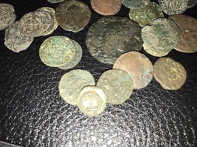 ...1 LOT OF 18 ANCIENT ROMAN CULL COINS UNCLEANED /& EXTRA COINS ADDED AS GIFT