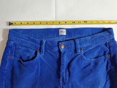 """Lands' End Women's Corduroy Pants Size 32"""" Pin Straight Canvas Cobalt Blue Rare 3"""
