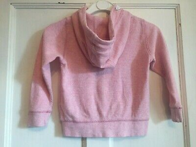 Girls Pink Zipped Long Sleeved Hoodie from Next Age 4 years 5