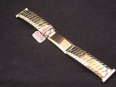 """Speidel Golden Knight 16mm 5/8"""" Vintage Yellow Gold Filled Expansion Watch Band"""