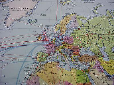 Schulwandkarte schöne alte Weltkarte politische 245x142c vintage world map 1977 2