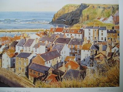 """Print A3 17/""""x12/"""" P39 Vintage 1890/'s Photochrom Photo Staithes Whitby Yorkshire"""