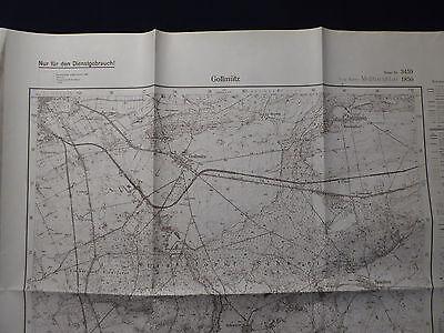 Landkarte Meßtischblatt 3459 Gollmütz i.d. Neumark / Chełmsko, Grenzmark, 1938