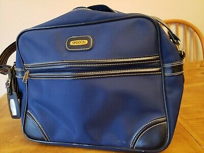 Vintage Sasson Luggage- Carry On -Travel Overnight Bag- Travel Tote 12