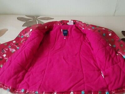 Baby GAP Girl's Red Spotted Raincoat - SIZE 3yrs 7