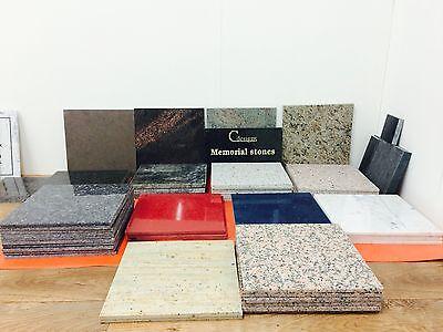 Granite Bespoke cremation memorial stones,Grave Marker, Plaque 12mmx300mmx300mm 8