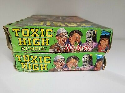 1992 Topps Toxic High School Collectible Trading Pack Sticker Box 2 BOX LOT 4