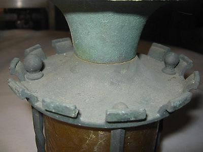 Antique Arts & Crafts Mission Architectural Bronze Ceiling Light Lamp Fixture 4