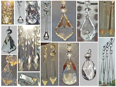 Cut Glass Crystals Chandelier Droplets Wedding Drops Beads Light Spare Parts 6