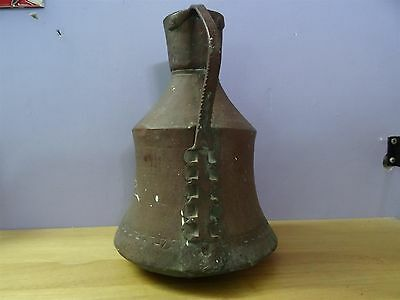 Antique Ottoman Copper Jug Pitcher Turkish Islamic Primitive Work Hand Made 3