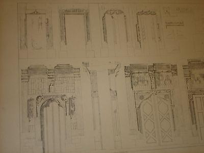 Gothische Holz-Architektur 1870 German Gothic Architecture Folio Huge 48 Plates 6