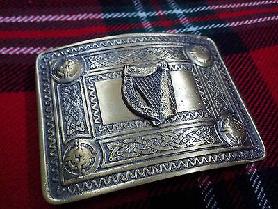 Celtic Kilt Belt Buckle Harp Men's Irish Celtic Harp Kilt Belt Buckle Antique