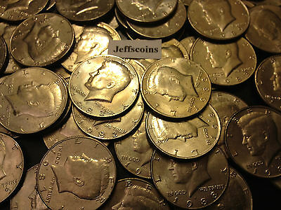 1980-1989 P D Kennedy Half Dollar 1 Coin From 80's Old Original US Mint 50¢ Lot 3