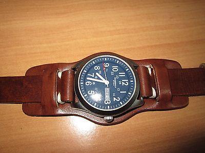 18mm-20mm-22mm Correa Reloj cuero BUND Pulsera Leather Watch Band Strap 5