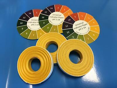 Universal Indicator Paper pH 1-14, Pack of 5 Meter Reel or Refill made in the UK 3