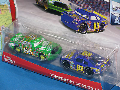 63 Disney World of Cars Diecast Vehicle 2-Pack Chick Hicks /& Transberry Juice No