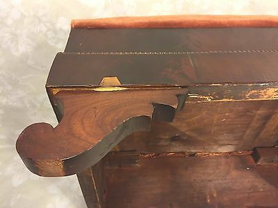 Antique Empire Mahogany Footstool w/ Upholstered Top 12