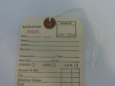 100 Off-White Layaway Tags Merchandise Price Tags Qty