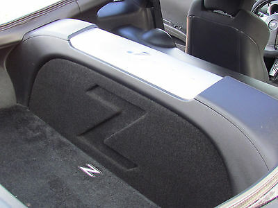 Sub Box 1-10  Nice! FRONT FIRE w// Z LOGO Subwoofer Box for Nissan 350z Coupe