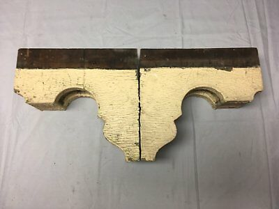 Antique 1890s Pair Wood Corbels Victorian Architectural Shelf Brackets 73-17B 7