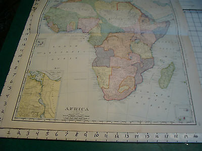Vintage Original 1898 Rand McNally Map: AFRICA, 28 x 21""
