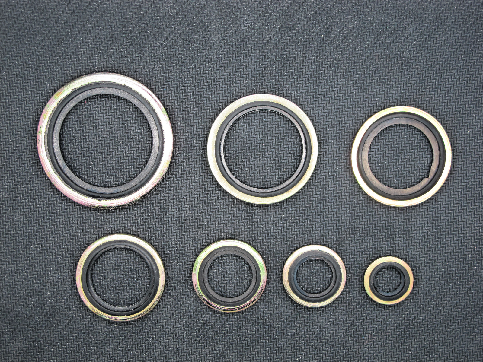 Qty 90 10mm - 24mm Assorted Box of Bonded Seals Metric Dowty Washers