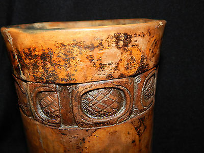 Mayan Cosmic and Serpent Cylinder, Carved Glyph Band, Authentic Pre-Columbian 11