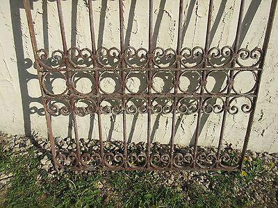 Antique Victorian Iron Gate Window Garden Fence Architectural Salvage Door #368 4