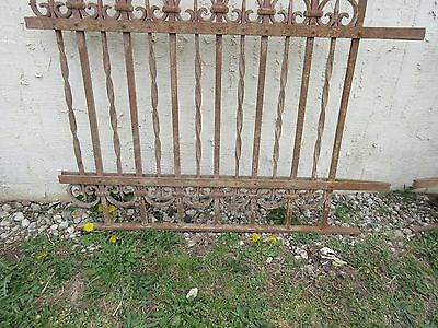 Antique Victorian Iron Gate Window Garden Fence Architectural Salvage Door #305 4