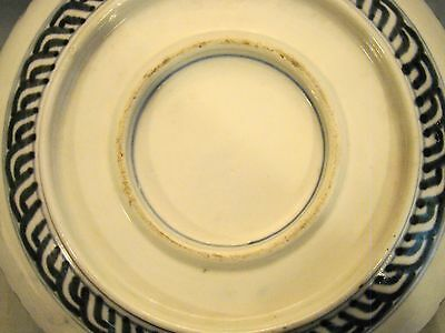 "Antique Japanese 19th Century Meiji Imari Porcelain Large Three Lobes Bowl 9""+ 6"