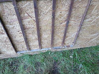2 Antique Victorian Iron Gate Window Garden Fence Architectural Salvage Door 000 8