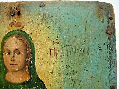 Original 19th century Antique Orthodox Icon Pokrov Russian Relic 8