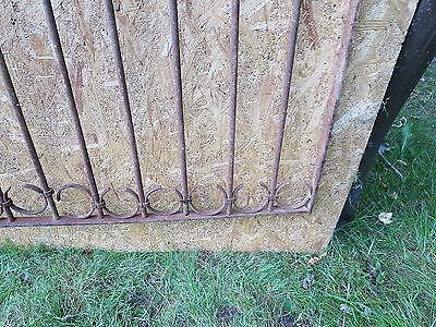 Antique Victorian Iron Gate Window Garden Fence Architectural Salvage Door GGG 9