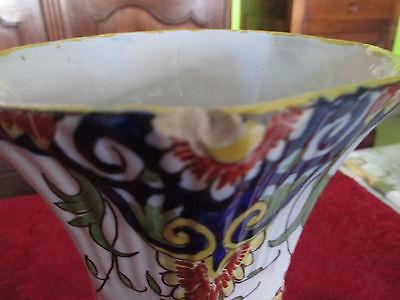Paire De Vases Anciens  Decor Rouen