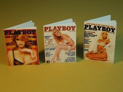 "Dollhouse Miniature 1"" 1/12 Scale Playboy Magazines Pack #1 - set of 3 4"