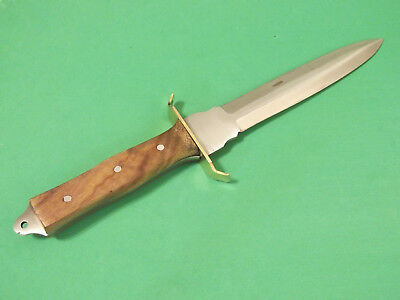 "FULL TANG DAGGER 203363 wood handle fixed blade knife 11 3/8"" overall PA3363 NEW 4"