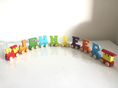 Alphabet Wooden Colourful Train letters for Personalized name as Children Gift 9