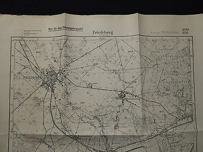 Landkarte Meßtischblatt 3159 Friedeberg i.d. Neumark, Strzelce Krajeńskie, 1945