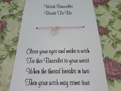 Hen Party Wish Bracelet Message Friendship Gift Pink Anklet Bride Bridesmaid* 2