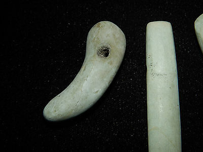 Pre-Columbian Jade Pendan Collectiont, Beautiful Jade, Set of 3, Authentic 2