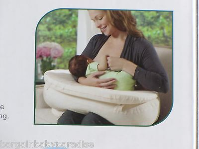 BORN FREE Bliss Nursing Pillow Quilted Deluxe 2-PC Slip Cover - Damask NEW 5