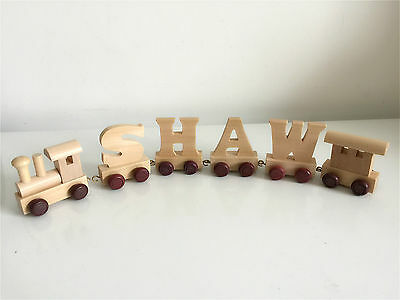 Personalised wooden name train : Use wooden letters to spell a personalised name 5